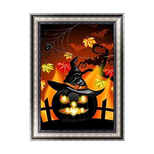 (Misright Creative Halloween 5D Diamond Painting DIY Embroidery Cross Stitch Home Decor Crafts)