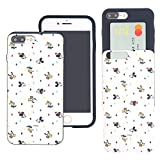 iPhone 8 / iPhone 7 Case Disney Cute Slim Slider Cover : Card Slot Shock Absorption Dual Layer Holder Bumper for [ iPhone8 / iPhone7 (4.7inch) ] Case - Vintage Pattern Family