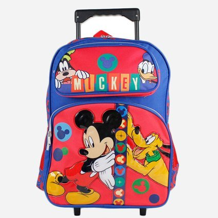 "Disney Mickey Mouse and Friends 16"" School Rolling Backpack"