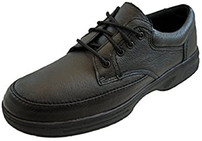969c29e2c32 Dr Keller Mens Real Leather Lightweight Wide Fit Soft Comfort Shoes Black  by Size  Amazon.co.uk  Shoes   Bags