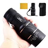 16x52 Dual Focus Optics Zoom Monocular Telescopes, Day and Night Vision, for Birds/Wildlife/hunting/camping/hiking/Tourism/Armoring 66m/ 8000m--325g