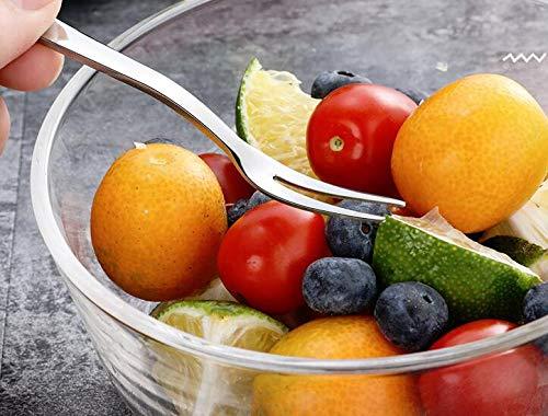 MINI-FACTORY Stainless Steel Fork Fruit//Appetizer//Dessert Cocktail Forks 20-Piece