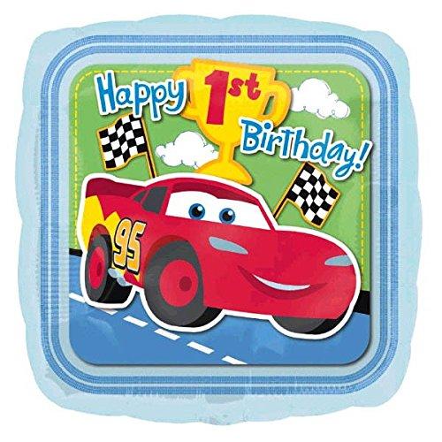 Amscan Disney Cars 1st Birthday Metallic Balloon Party Supplies, Medium, -