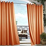Cheap Outdoor Decor Gazebo Grommet Outdoor Curtain Panel 50 x 84 Orange