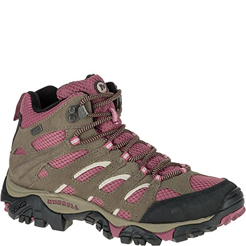 Merrell Womens Moab Mid Waterproof Hiking BootBoulderBlush7 M US