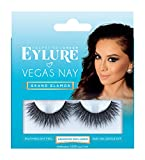 Eylure Vegas Nay Grand Glamour Fake Eyelashes, Reusable, Adhesive Included, 1 Pair