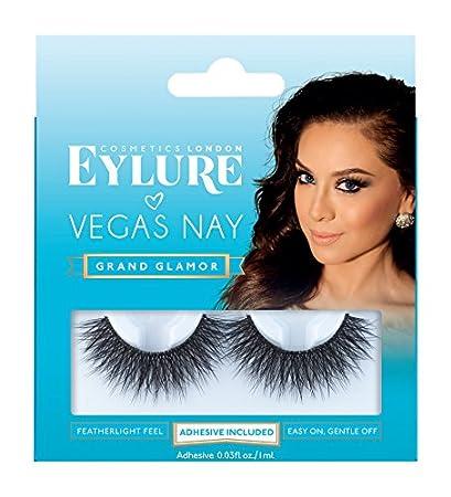 1fc029b0745 Amazon.com : Eylure Vegas Nay Grand Glamour Fake Eyelashes, Reusable,  Adhesive Included, 1 Pair : Beauty