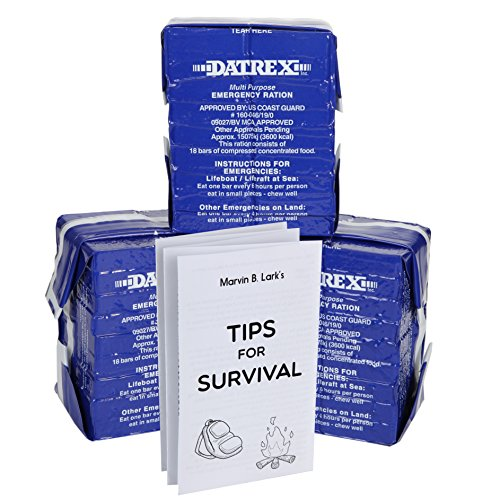 Datrex 3600 Calorie Emergency Food Bar for Survival Kits, Disaster Preparedness, Survival Gear, Survival Supplies, Schools Supplies, Disaster Kit3 pack (WITH TIPS)