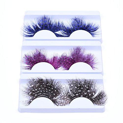 KLOUD City® 5 Pairs Deluxe Party Stage Feather False Eyelashes Eye Lashes -