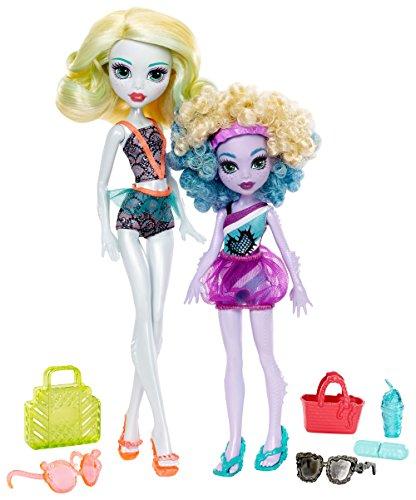 Monster High Monster Family Lagoona Blue and Kelpie Blue Dolls, 2 Pack