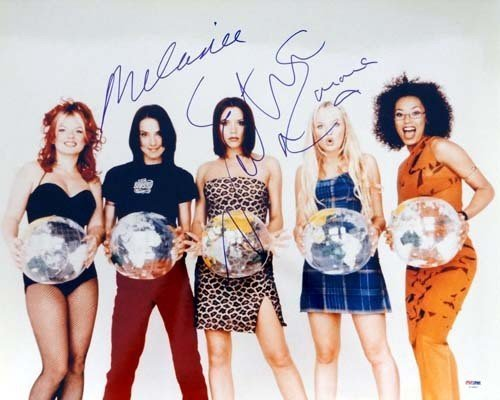 Spice Girls Signed 16 x 20 Photo Including Victoria Beckham Melanie Chisholm and Emma Bunton - PSA/DNA Authentication - Celebrity - Beckhams Victoria Shop