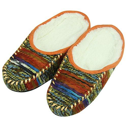 Pantofole Da Passeggio Foderato Caldo Sfilacciato Caldo Sfilacciato Da Donna Da Casa