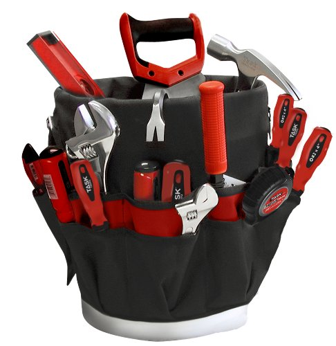 Task Tools T78525 Nylon Bucket Buddy Tool Organizer, 27 Pockets
