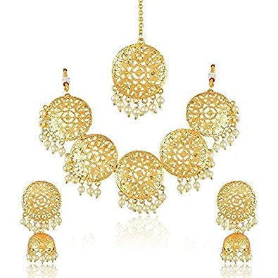 Costume Jewellery Gentle Gold Plated Bracelet And Matching Earrings Reduced Price
