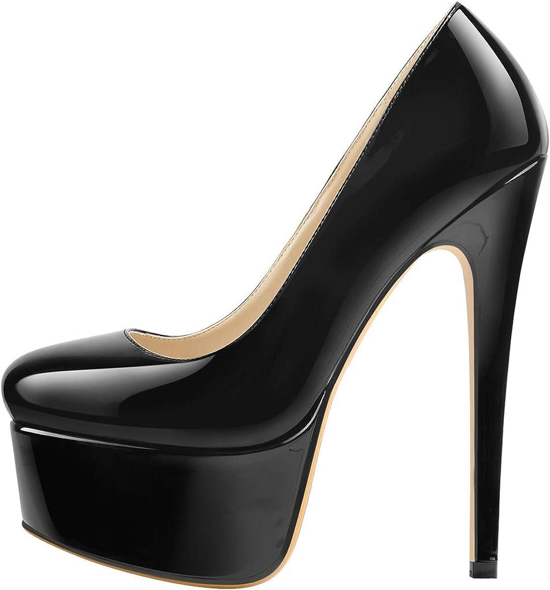 Super High Stiletto Heels Platform Slip
