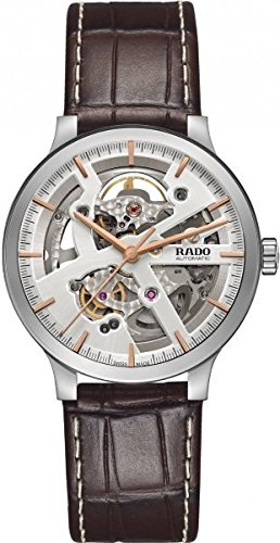 Rado-Centrix-Steel-Automatic-Brown-Leather-Mens-Watch-R30179105