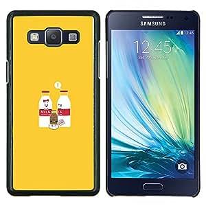 """Be-Star Único Patrón Plástico Duro Fundas Cover Cubre Hard Case Cover Para Samsung Galaxy A5 / SM-A500 ( Leche y Chocolate con leche de bebé - Gracioso"""" )"""