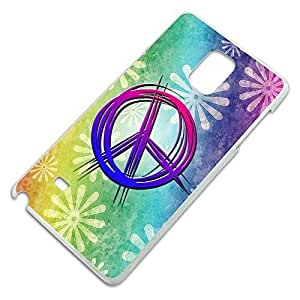 Hippie Peace Signs and Flowers Slim Fit Hard Case FitsIpod Touch 4