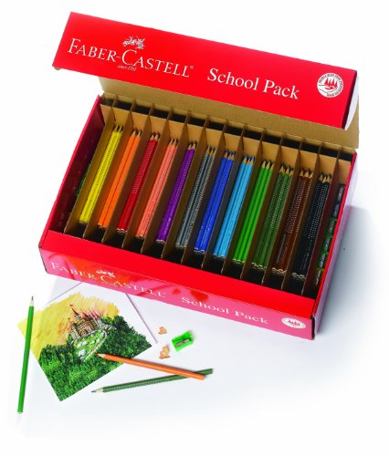 Faber-Castell Grip Colored EcoPencils School Pack – 288 Colored EcoPencils – 12 Pencil Sharpeners