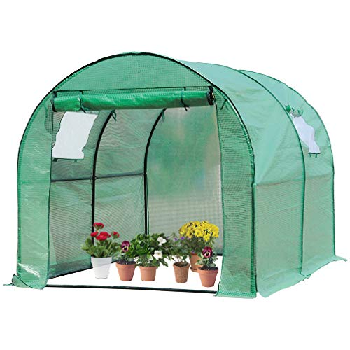 "BestMassage Portable Greenhouse, Indoor Outdoor Large Plant Shelves Tomato Herb Canopy Winter Walk-in Green House for Patio(L118""W77""H76"") Review"