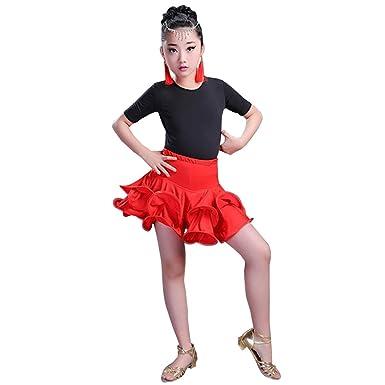 KINDOYO Niñas Niño Ropa de Baile Tops + Falda 2 Piezas Traje ...