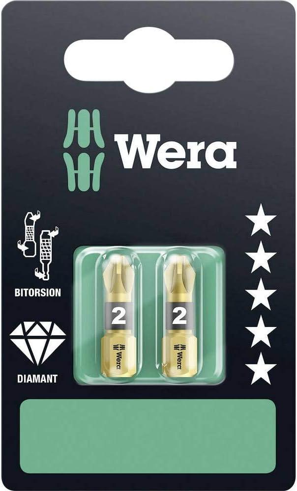 tama/ño: 25mm, pack de 2 Accesorio para destornilladores Wera WER073339