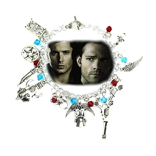 Blue Heron Supernatural 11 Logo Charms Toggle Clasp Bracelet w/Gift (Magneto Halloween Costumes)
