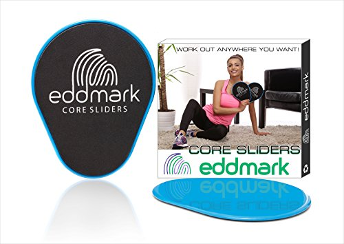 Professional Core Exercise Sliders- Dual Sided Gliding Discs Set of 2- Home...