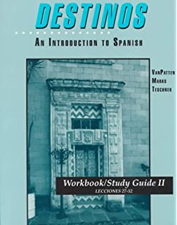 Amazon videoscript to accompany destinos an introduction to destinos an introduction to spanish workbookstudy guide ii lecciones 27 52 fandeluxe