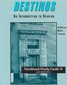 Destinos: Workbook/Study Guide 1 (Lecciones 1-26), Author ...