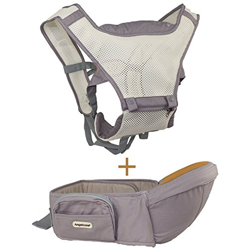Baby Carrier with Hip Seat, 6-in-1 Convertible Carrier, 360 Ergonomic Baby Carrier Backpack, COOL MESH for Summer - for 8-33lbs - Baby Wrap Carrier, Baby Carriers Front and Back Toddler baby carrier