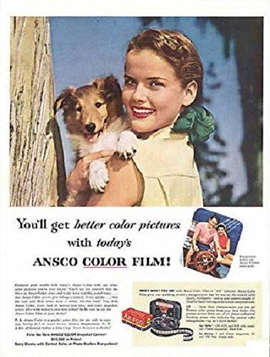 Film Color Ansco (ORIGINAL *PRINT AD* 1953 ANSCO COLOR FILM
