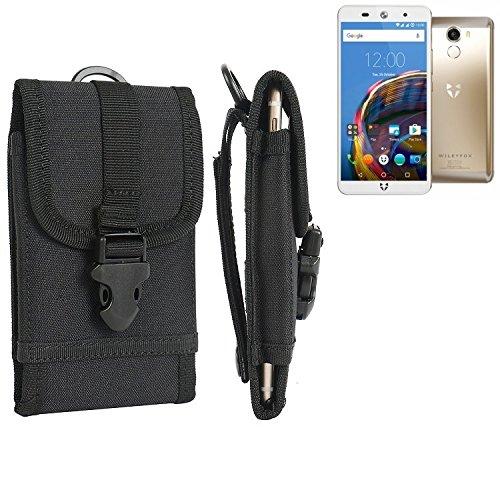 bolsa del cinturón / funda para Wileyfox Swift 2, negro | caja del teléfono cubierta protectora bolso - K-S-Trade (TM)