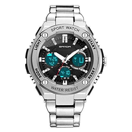 MOGOI Men's Automatic Watch, Waterproof Full Steel Fashion Watches, Casual Steampunk Quartz Luminous Watch for Man
