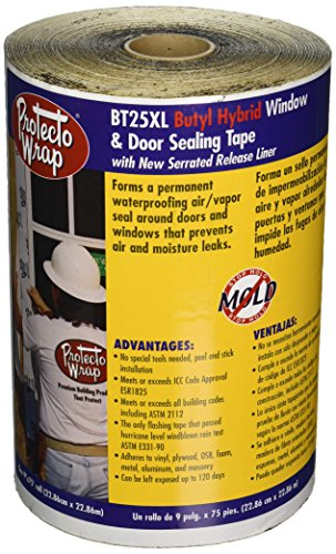 Window Flashing Tape, 9'' x 75' by Protecto Wrap