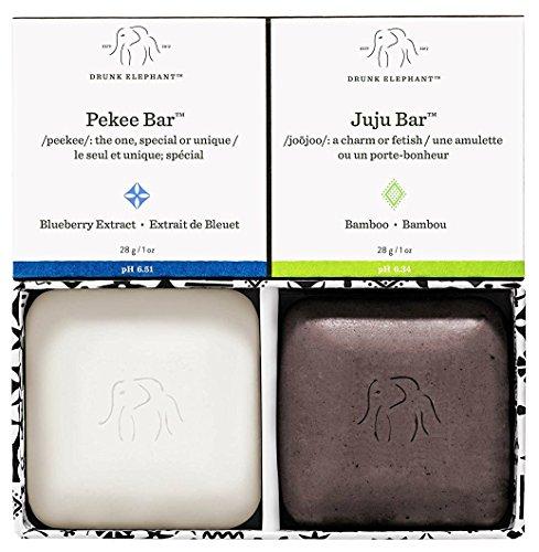 Drunk Elephant Baby Juju + Baby Pekee Travel Duo - Exfoliating Face Wash and Moisturizing Bar...
