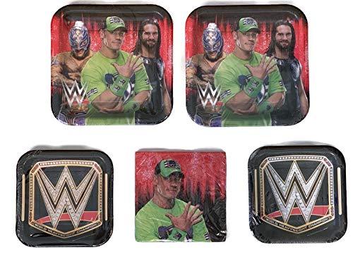 Lunch Napkins Grand Slammin WWE Birthday Party Bundle 9 Plates 16 16