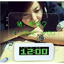 @LIU-Creative clocks message board gifts birthday wishes sent husband wife couple clock , green
