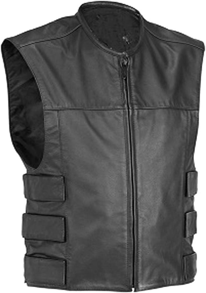 SRHides Mens Fashion Slim Fit Leather Vest