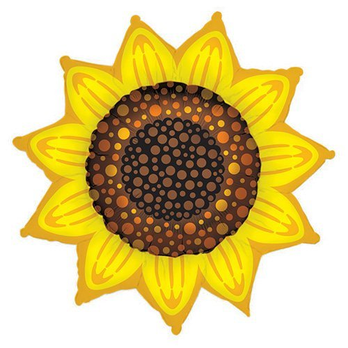 Betallic Foil Balloon 85208P SUNFLOWER SHAPE, 42