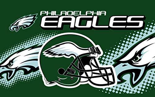 RongJ- store NFL Helmet Design Team Super Bowl Champions Banners Flag Flying 3ft X 5ft Banner 100D Polyester (Philadelphia Eagles) -