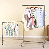 kid clothes rack - Ollieroo Stainless Steel Foldable Clothes Displaying Rack Height Adjustable Telescopic Rolling Garment Rack