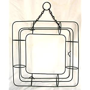 """13"""" Square Living Wire Wreath Form 16"""