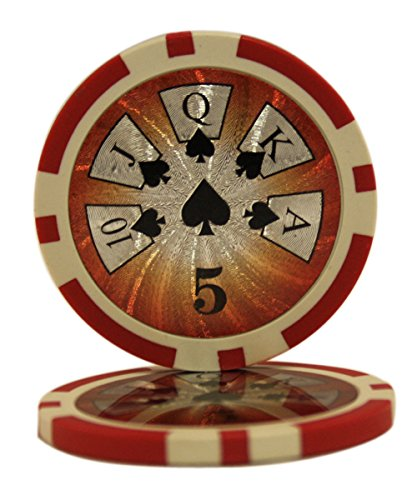 50 $5 High Roller Casino Clay Composite 14 Gram Poker Chips