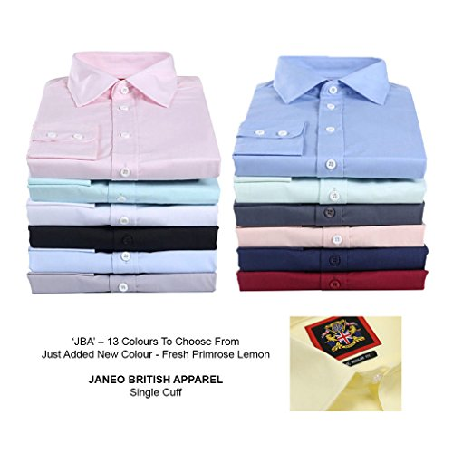 Double navy Or amp; Soft Sleeve Shirt; Apparel Plains Single Peach Classic Wear; Office The Workwear Long Cuff Janeo black Colours British sky Masculine lavender Pink white London Pink Branded mint 4xOvp