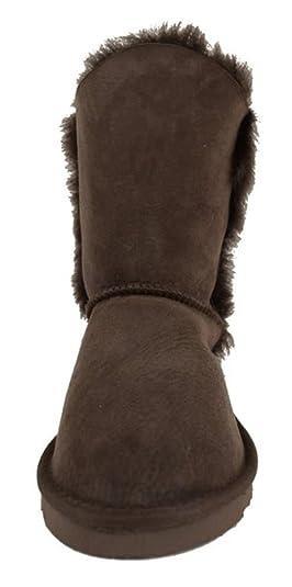Sheepskin World Botas para Mujer marrón Chocolate: Amazon