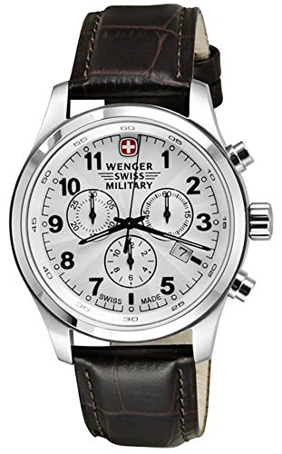 Wenger-Swiss-Military-Field-Dark-Brown-Leather-Chronograph-Date-Mens-Watch-79013