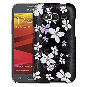 Samsung Galaxy Prevail LTE Case, Slim Fit Snap On Cover by Trek Winter Sweet on Black Case