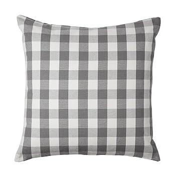 Kissenbezug Ikea ikea smanate kissenbezug in grau 100 baumwolle 50x50cm amazon
