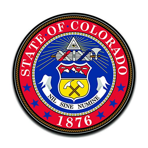 More Shiz Colorado State Seal (2 Pack) Vinyl Decal Sticker - Car Truck Van SUV Window Wall Cup Laptop - Two 5 Inch Decals - MKS0892